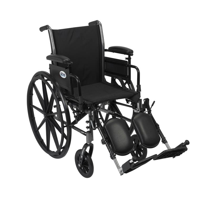 Drive Medical Cruiser III Light Weight Wheelchair with Flip Back Removable Arms