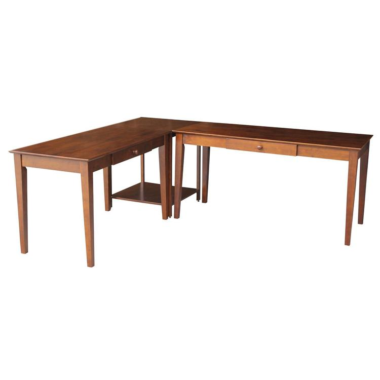 International Concepts Basic Size and Larger Size Desks with Connecting Table