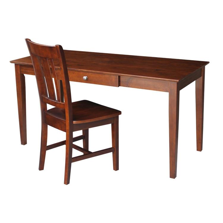 International Concepts Desk with Drawer - Larger Size And Chair