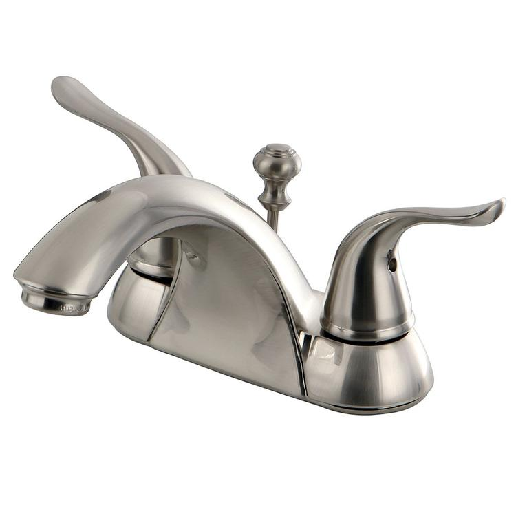 Kingston Brass Yosemite KB2628YL 4-inch Centerset Two Handle Lavatory Faucet, Satin Nickel