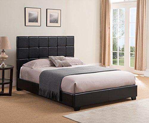 Kenville Upholstered Platform Bed, King, Black
