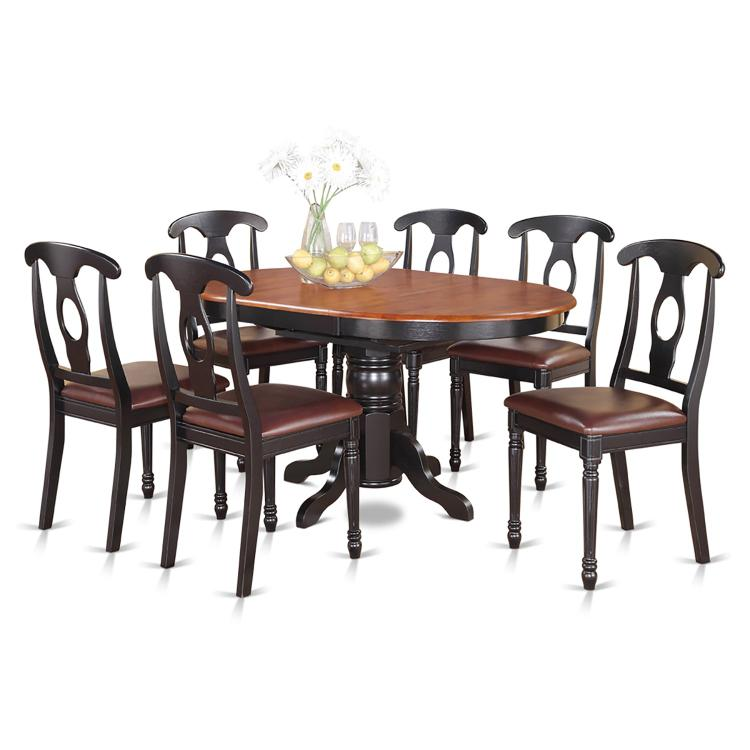 East West Furniture 5-Piece Dining Table Set [Item # KENL7-BLK-LC]