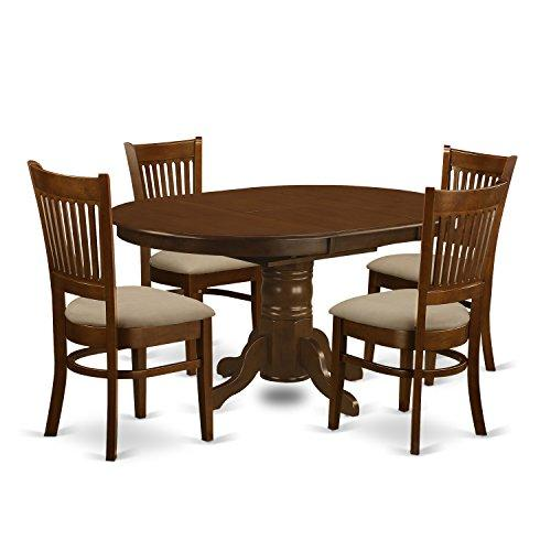 East West Furniture Kenley Kitchen Table Set [Item # KEVA5-ESP-C]