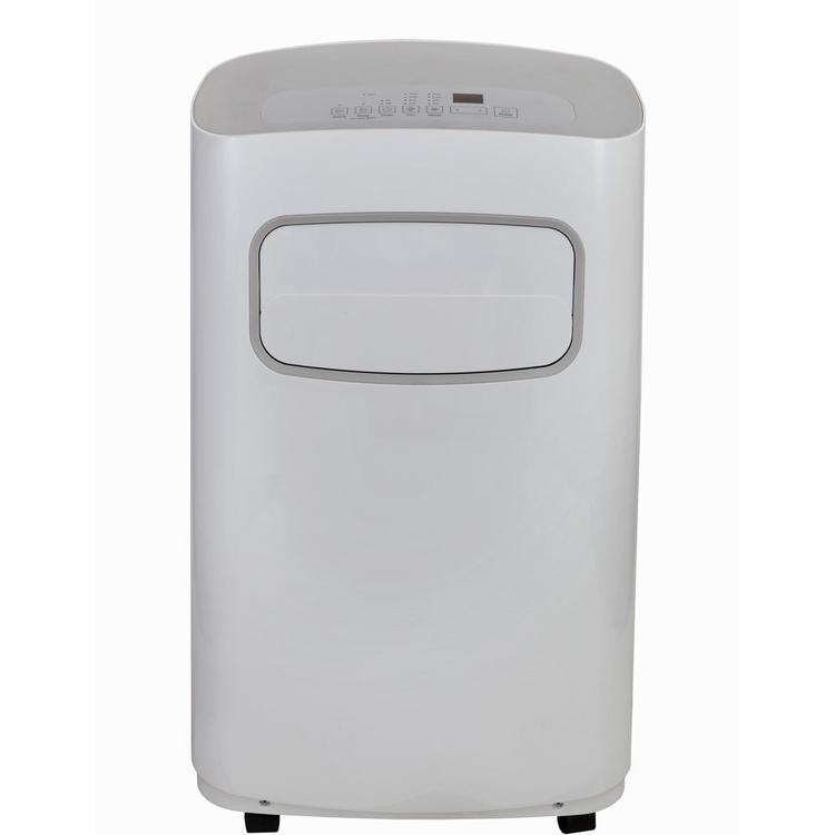 115V Portable Air Conditioner with Remote Control in White/Gray for Rooms up to 300-Sq. Ft.