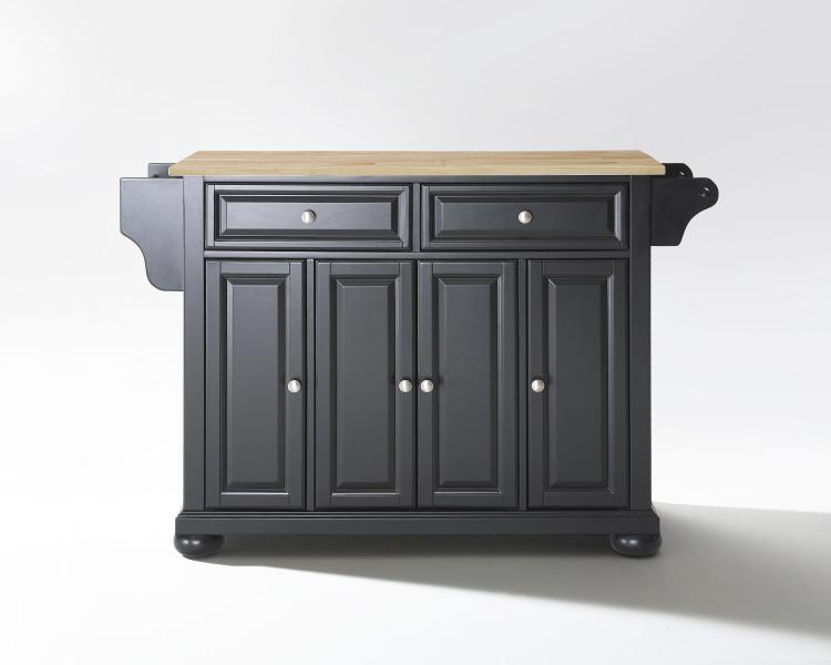 Crosley Alexandria Wood Top Full Size Kitchen Island [Item # KF30001ABK]