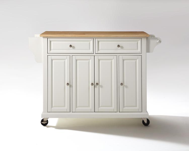 Crosley Full Size Wood Top Kitchen Cart [Item # KF30001EWH]