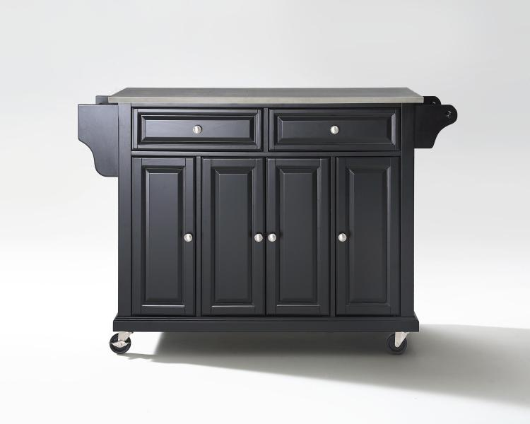 Crosley Full Size Stainless Top Kitchen Cart - [KF30002EWH]
