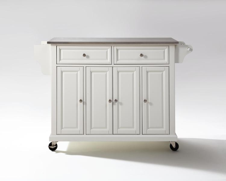 Crosley Full Size Stainless Top Kitchen Cart [Item # KF30002EWH]