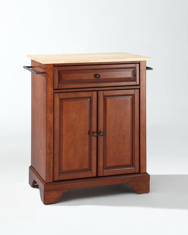 Crosley Lafayette Natural Wood Top Portable Kitchen Island [Item # KF30021BCH]