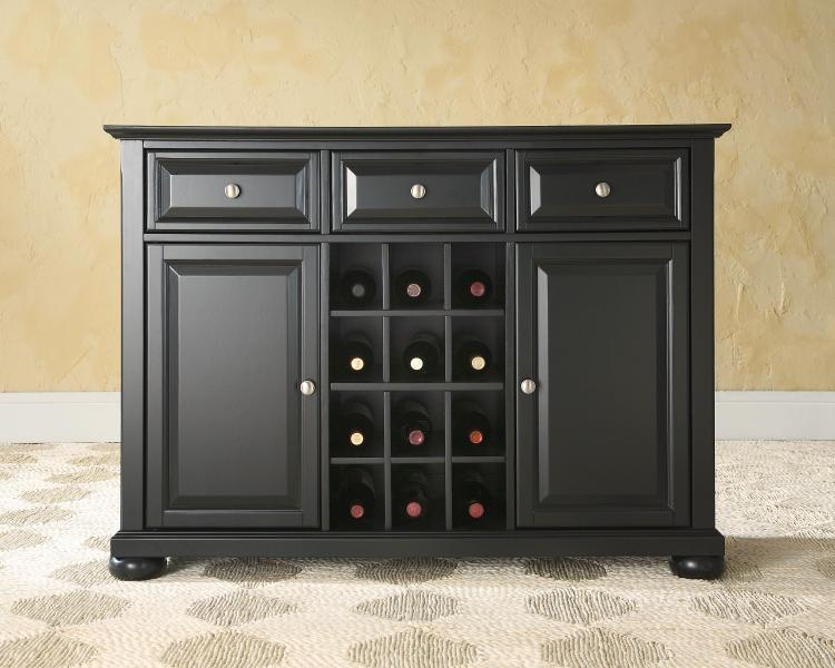 Alexandria Buffet Server / Sideboard Cabinet with Wine Storage