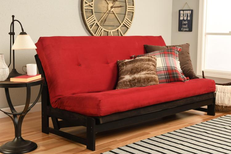 Kodiak Furniture Aspen Frame-Reclaim Mocha  Finish-Suede Red Mattress [Item # KFAPRMSREDLF4MD2]