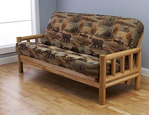Kodiak Furniture Lodge Frame-Natural Finish-Canadian Mattress