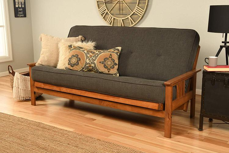Kodiak Furniture Monterey Frame/Barbados Finsish/Linen Charcoal Mattress