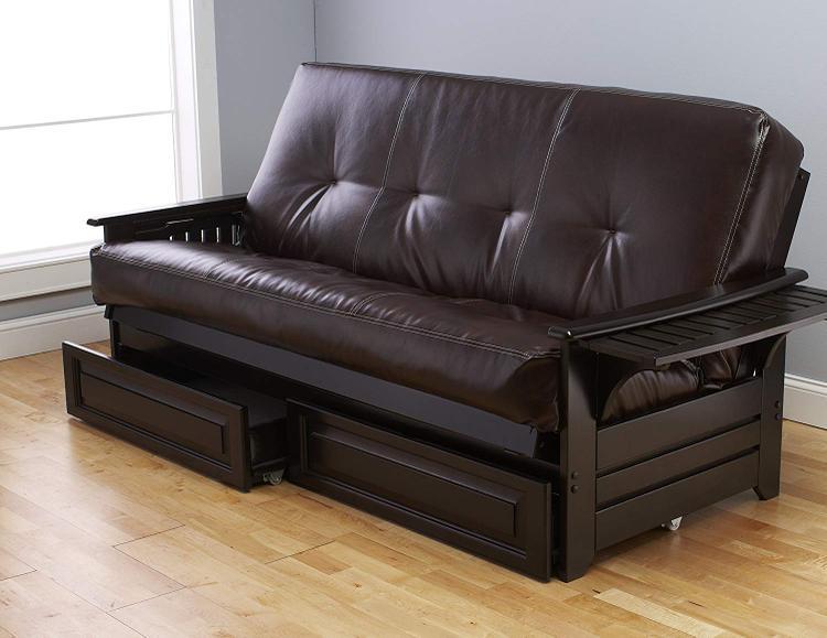 Kodiak Furniture Phoenix Frame/Espresso Finish/Oregon Trail Java Mattress/Storage Drawers