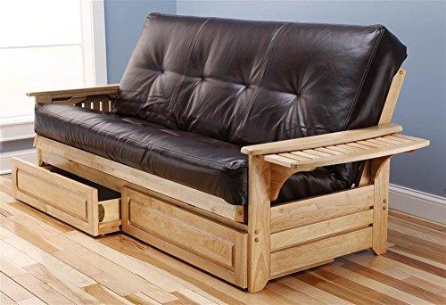 Phoenix Frame-Natural Finish-Oregon Trail Java Mattress-Storage Drawers Kodiak Furniture [Item # KFPHDNTOTJLF5MD4]