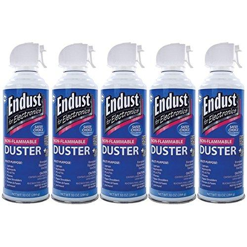 Endust 255050 Electronics Duster 5 Pk (10 Oz; Non-flammable; With Bitterant)