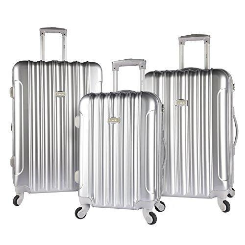 Traveler's Club Kensie 3 Piece 4-Wheel Luggage Set