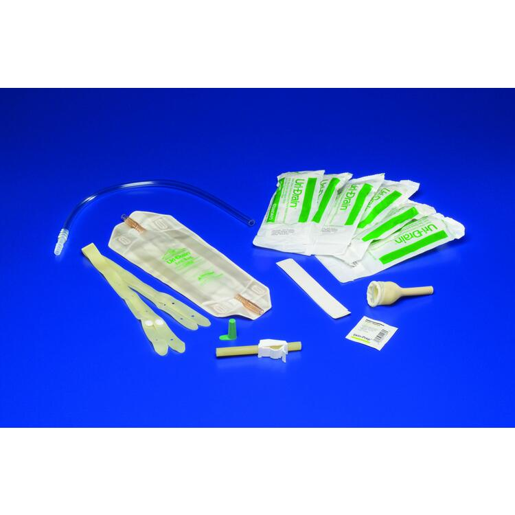 "1- male external catheter and 1- 1"" foam strap, Size Medium , Quantity Case of 144"