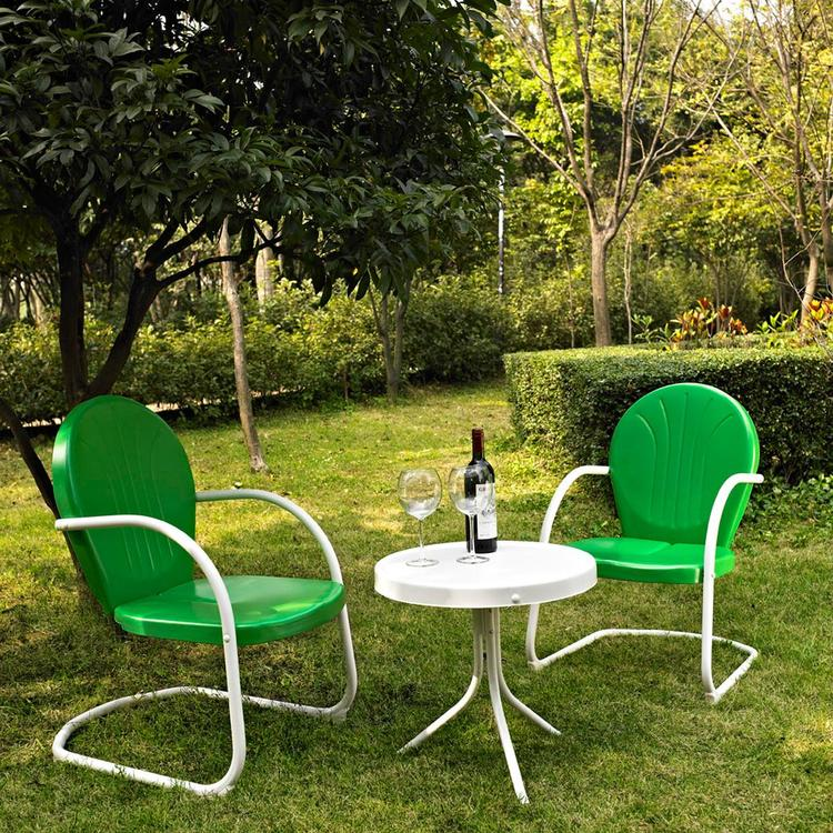 Griffith 3 Piece Metal Outdoor Conversation Seating Set - Two Chairs