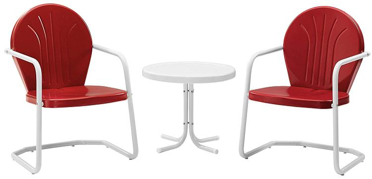 Crosley Griffith 3Pc Outdoor Chat Set - 2 Chairs, Side Table [Item # KO10004RE]