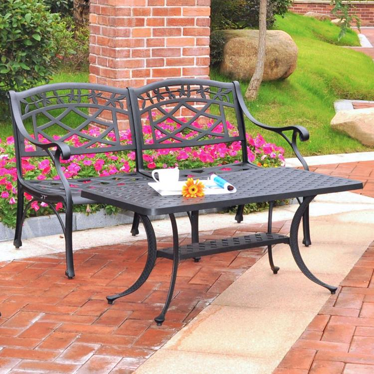 Crosley Sedona 2 Piece Cast Aluminum Outdoor Conversation Seating Set