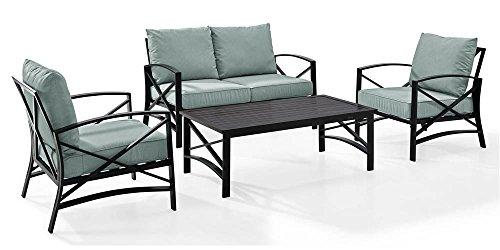 Crosley Kaplan 4 Pc Outdoor Seating Set With Mist Cushion