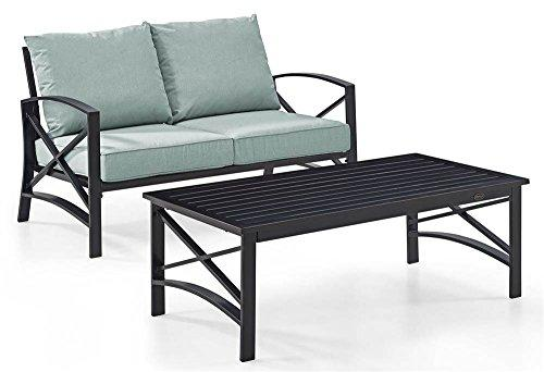 Crosley Kaplan 2 Pc Outdoor Seating Set With Mist Cushion - Loveseat, Coffee Table