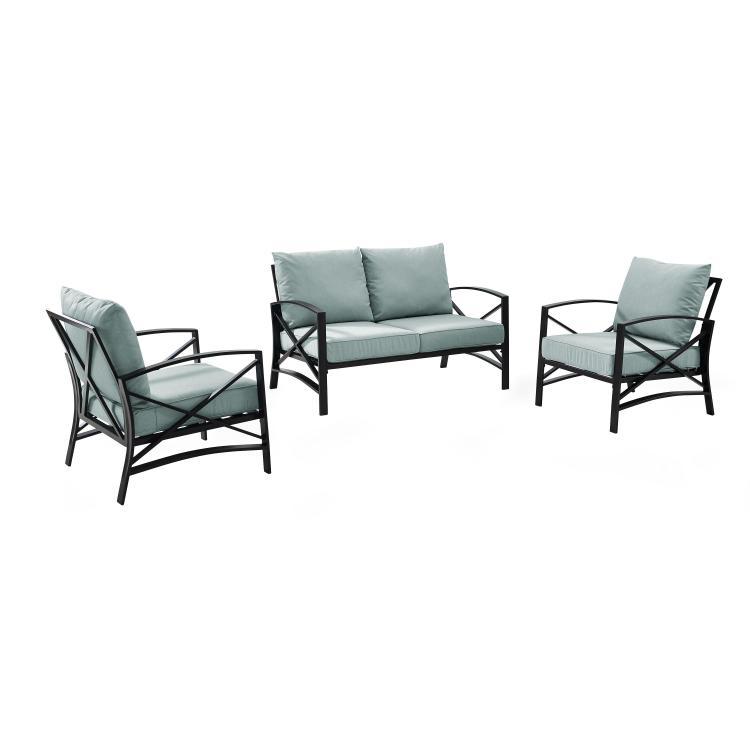 Crosley Kaplan 3 -Piece Outdoor Seating Set [Item # KO60011BZ-MI]