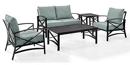 Crosley Kaplan 5 Pc Outdoor Seating Set With Mist Cushion