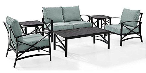 Crosley Kaplan 6 Pc Outdoor Seating Set With Mist Cushion