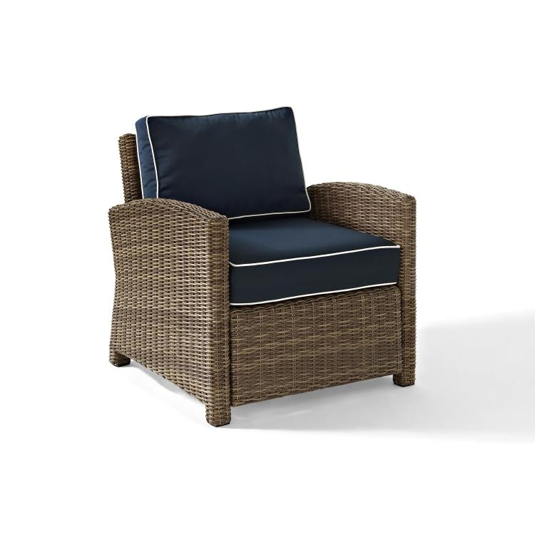 Crosley Bradenton Outdoor Weathered Brown Wicker Arm Chair
