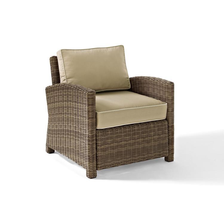 Crosley Bradenton Outdoor Weathered Brown Wicker Arm Chair [Item # KO70023WB-SA]
