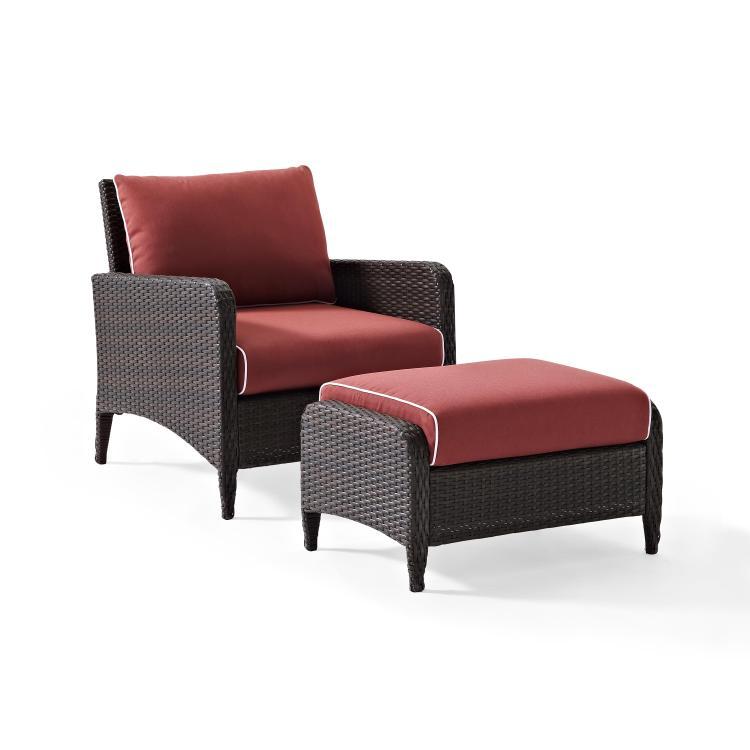 Crosley Kiawah 2-Piece Outdoor Wicker Seating Set