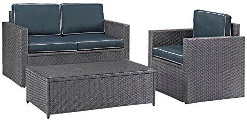Crosley Palm Harbor 3 Piece Outdoor Wicker Seating Set