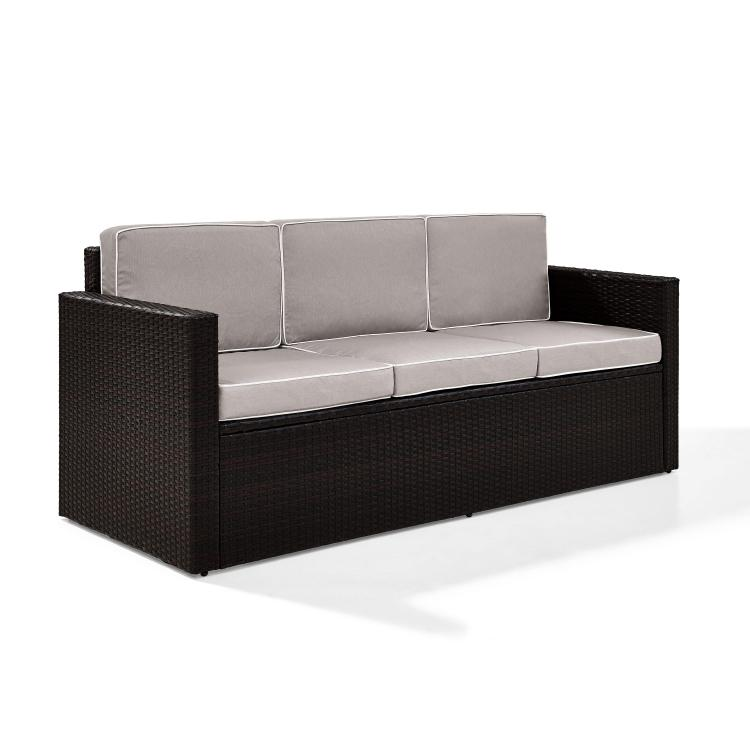 Crosley Palm Harbor Outdoor Wicker Sofa
