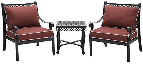 Crosley Portofino Cast Aluminum 3-Piece Conversation Set