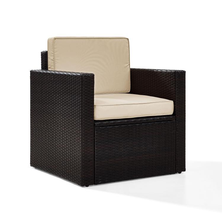 Crosley Palm Harbor Outdoor Wicker Arm Chair [Item # KO70088BR-SA]