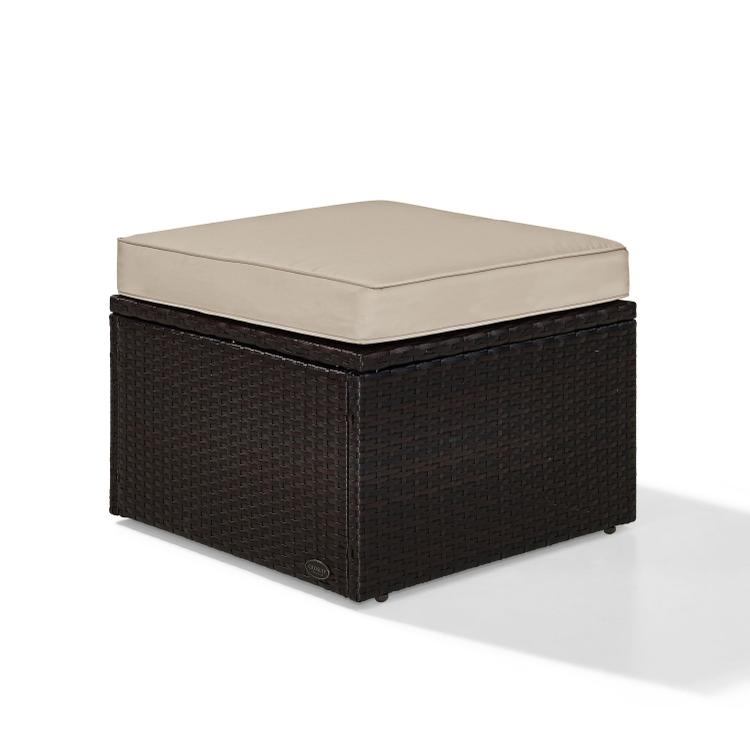 Crosley Palm Harbor Outdoor Wicker Ottoman [Item # KO70091BR-SA]