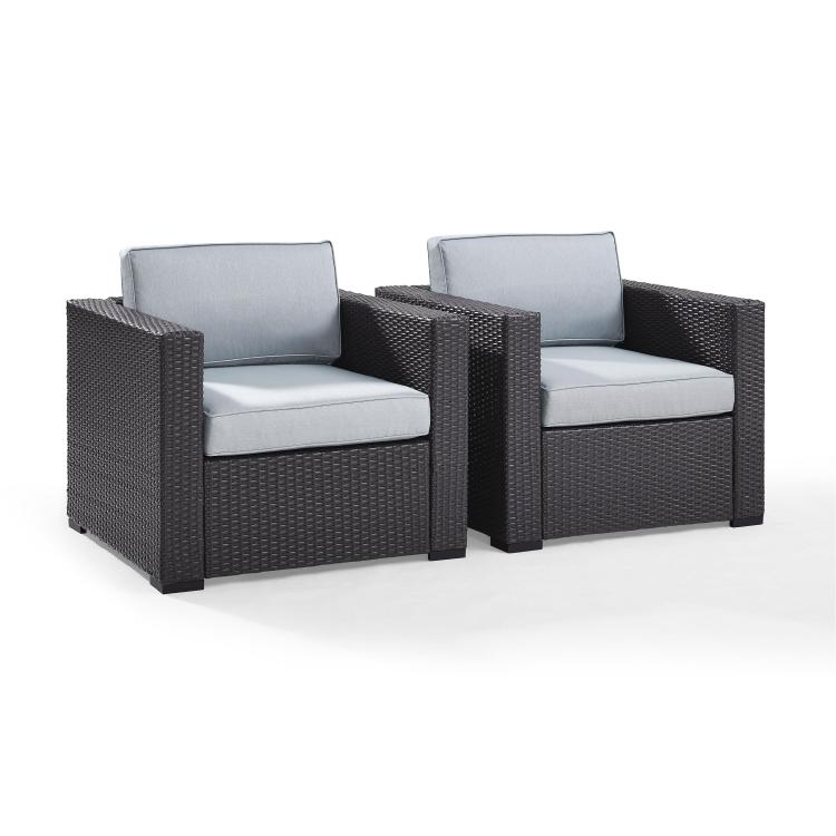 Crosley Biscayne 2 Person Outdoor Wicker Seating Set