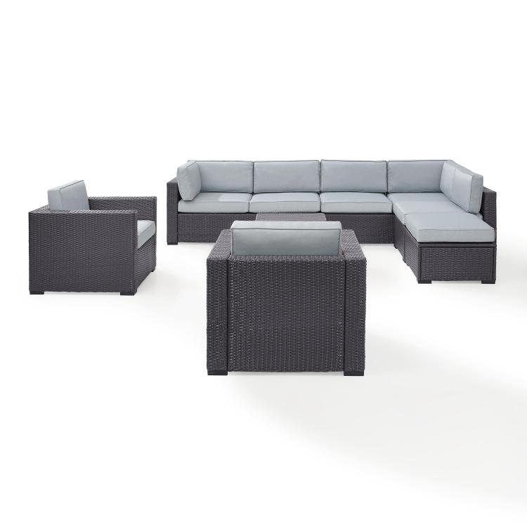 Crosley Biscayne 8 Person Outdoor Wicker Seating Set