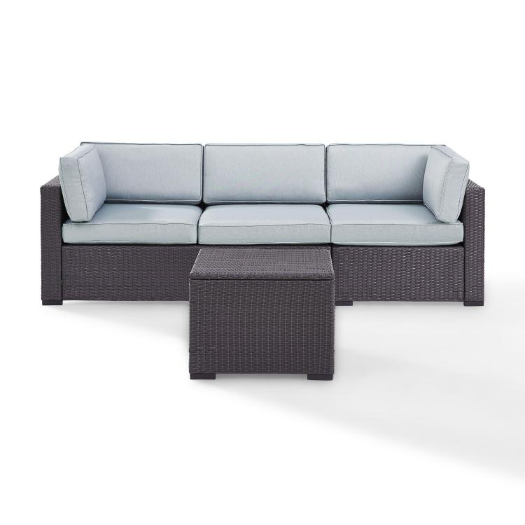 Crosley Biscayne 3 Person Outdoor Wicker Seating Set