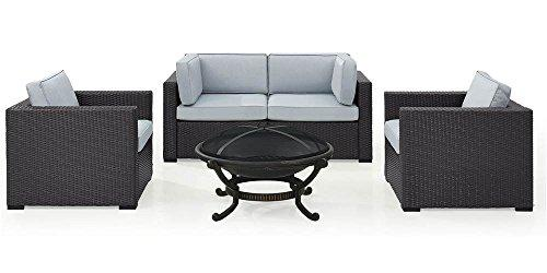 Crosley Biscayne 4 Person Wicker Seating Set