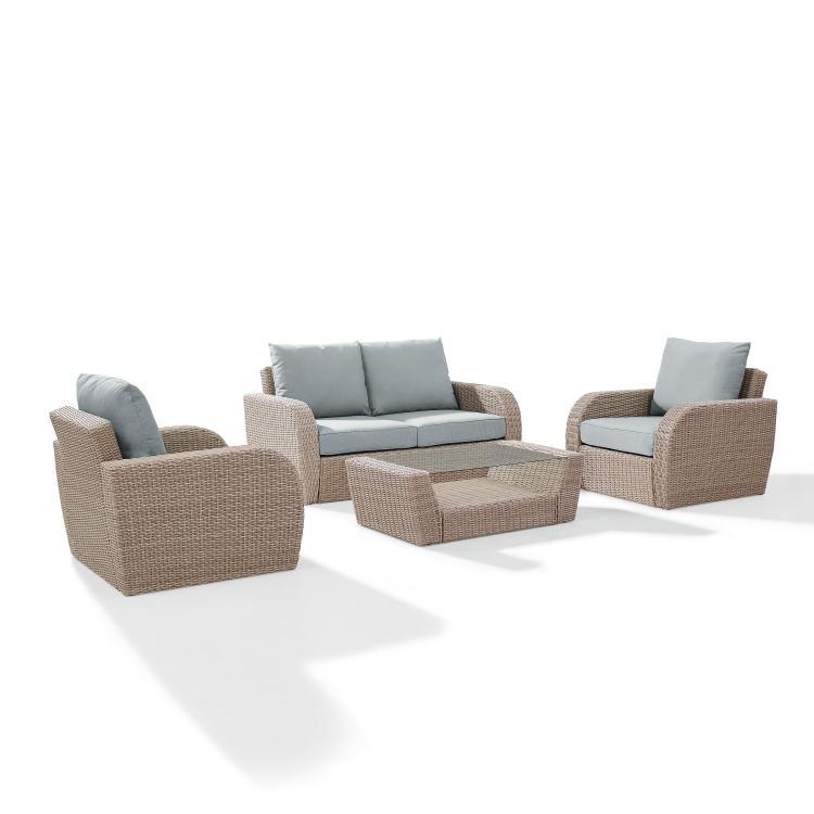 Crosley St Augustine 4 -Piece Outdoor Wicker Seating Set