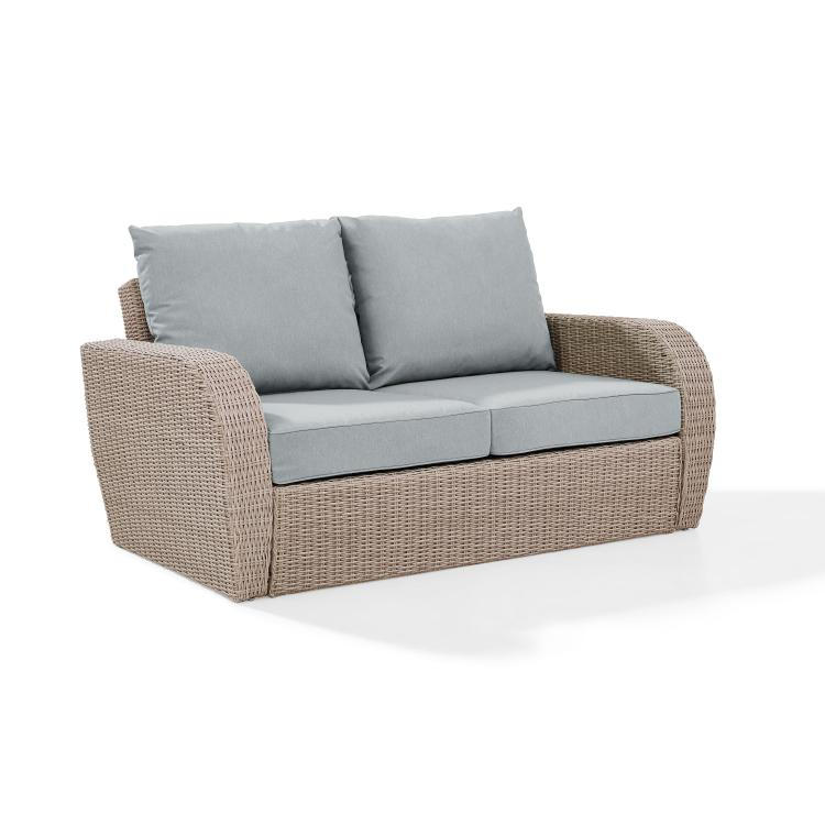 Crosley St Augustine Outdoor Wicker Loveseat