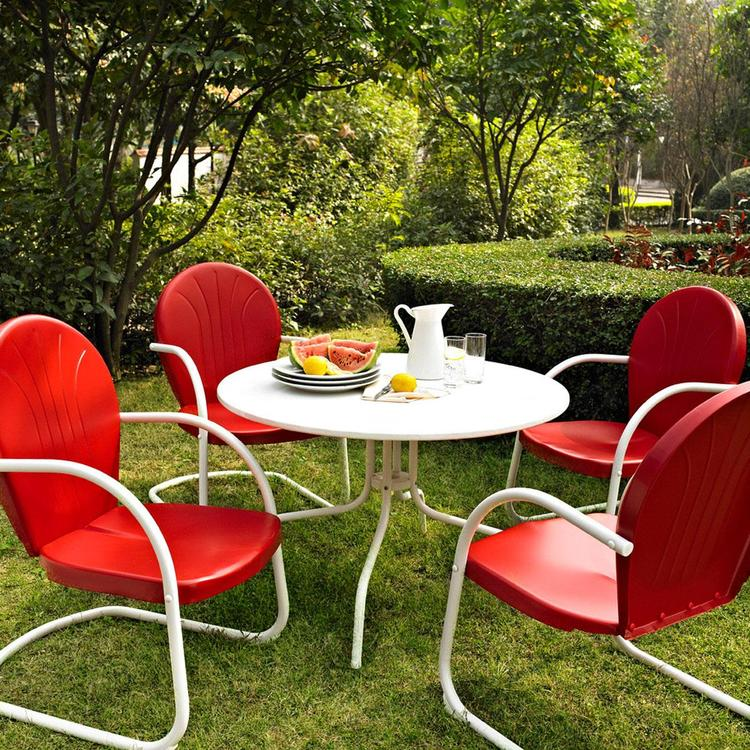 Crosley Griffith Metal Five Piece Outdoor Dining Set - 39