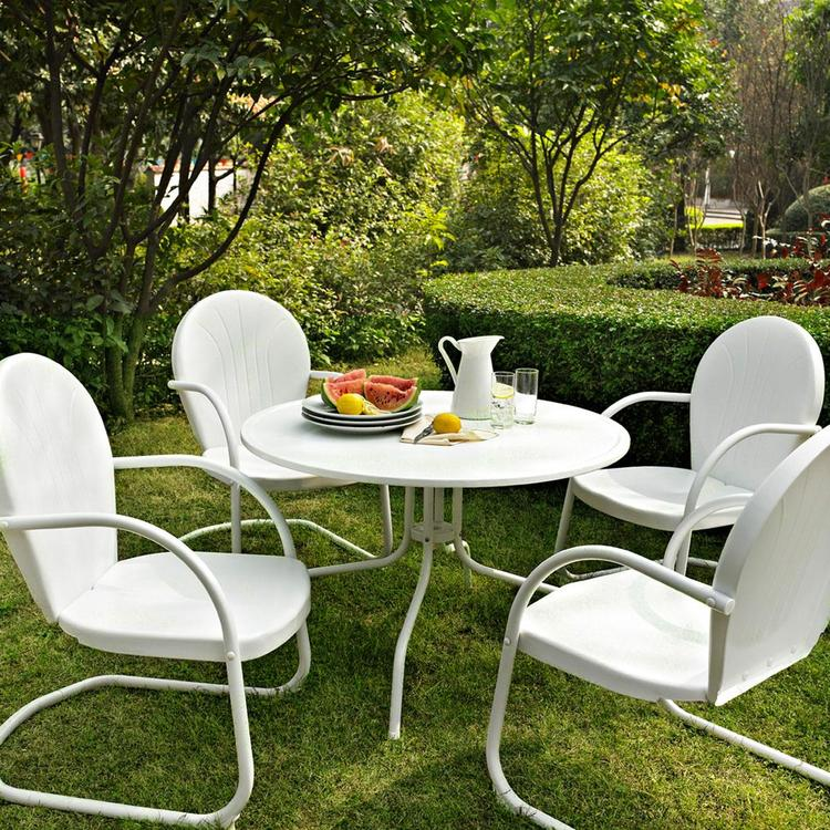 Griffith Metal Five Piece Outdoor Dining Set - 39