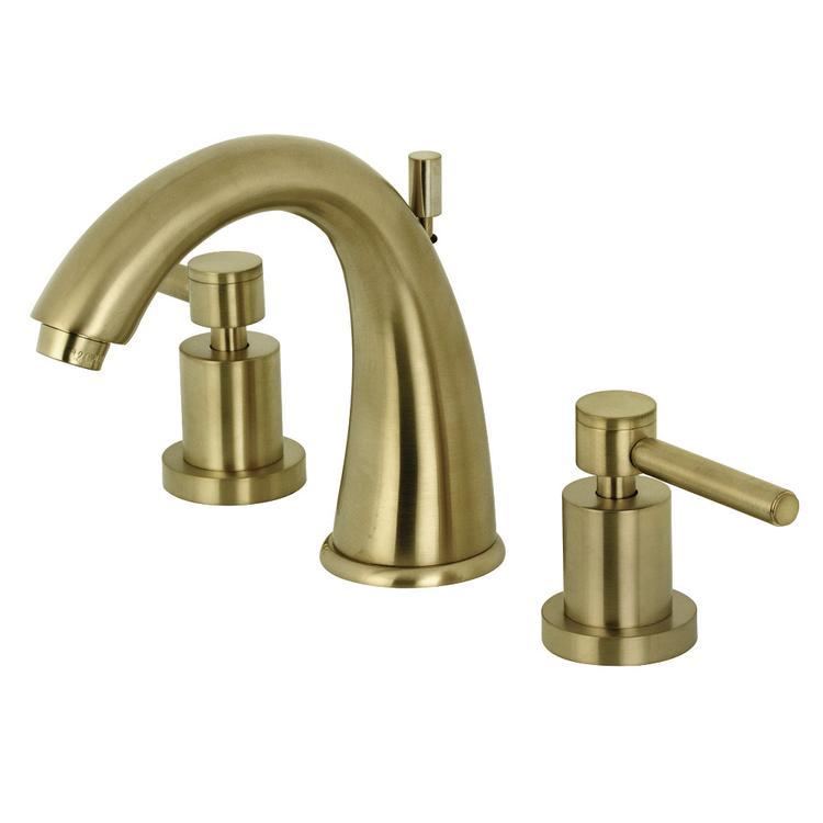 Kingston Brass KS2967DL 8-Inch Widespread Lavatory Faucet, Satin Brass