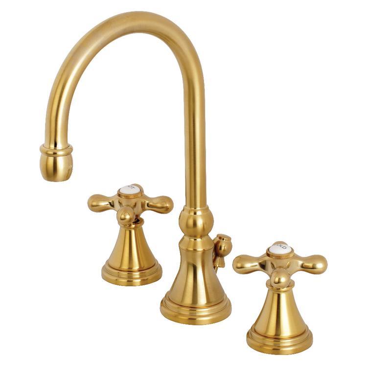 Kingston Brass KS2987AX 8-Inch Widespread Lavatory Faucet, Satin Brass