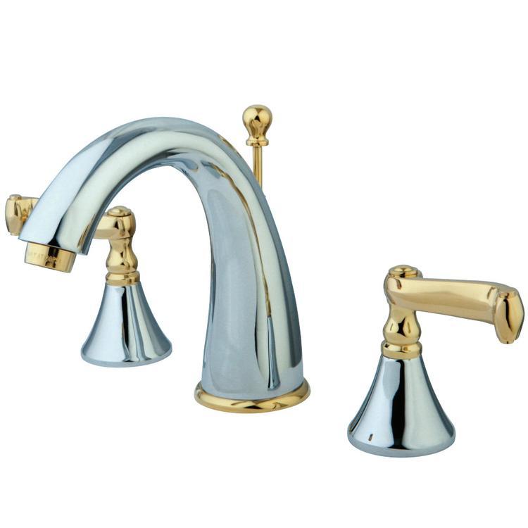 Kingston Brass KS5974FL 8-Inch Widespread Lavatory Faucet, Polished Chrome/Polished Brass