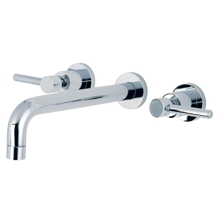 Kingston Brass KS8021DL Concord 2-Handle Wall Mount Roman Tub Faucet, Polished Chrome